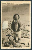 1921 Denmark Dreng Fra North Star Bay Greenland Official Exhibition Eskimo Girl Postcard Missionshotellet Copenhagen - Covers & Documents