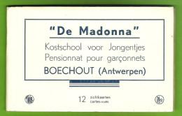 Boechout, Carnet, Boekje, 12 Postkaarten, Kostschool, Madon(n)a, Titels Der Kaarten Zie Beschrijving, Goede Staat - Boechout