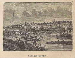 A0233 Nijni-Novgorod - Veduta - Stampa Antica Del 1907 - Xilografia - Prints & Engravings