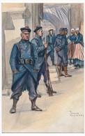 """CPA - Illustrateur Fouqueray - Fusiliers Marins - """"La Bretagne Peut être Fière De Ses Gars"""" - Andere Illustrators"""