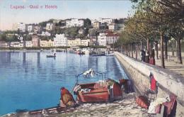 Lugano : Quai E Hotels - Carte Animée - TI Tessin