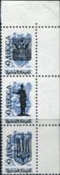 1994 Ukraine Local Post; ODESSA Black C Of A Overprint On 1988 50k USSR Definitive Set Of 3 Stamps 5.00 Karb 25.00 Karb - Ukraine