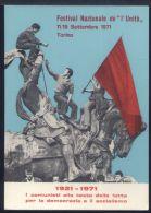 RA4 TORINO - FESTIVAL NAZIONALE DELL'UNITA' 1971 - Italia
