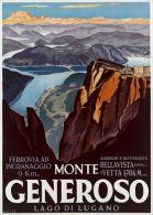 Postcard - Poster Reproduction - Monte Generoso 1930 - Pubblicitari