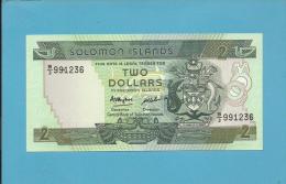 SOLOMON ISLANDS - 2 DOLLARS - ND ( 1986 ) - Pick 13 - Sign. 5 - UNC. - 2 Scans - Salomons