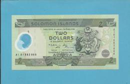 SOLOMON ISLANDS - 2 DOLLARS - 2001 - Pick 23 - Sign. 7 - UNC. - Commemorative Issue - Polymer - 2 Scans - Solomon Islands