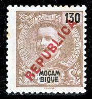 """!■■■■■ds■■ Mozambique 1917 AF#196(*) Local """"republica"""" 130 Réis (x1607) - Mozambique"""