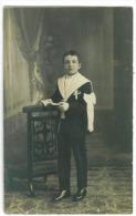 C-Photo  Jeune Garçon  Premiere Communion  Juin 1928 - Kommunion