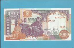 SOMALIA - 1000 SHILIN - 1996 - Pick 37.b - UNC.  - 2 Scans - Somalia