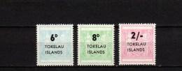 Tokelau Islands 1966 Postal Fiscal stamps set of 3 MNH