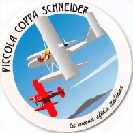 """01503 """"PICCOLA COPPA SCHNEIDER"""" COUPE D'AVIATION MARITIME J.S.- LA NUOVA SFIDA ITALIANA, IDROVOLANTI.  ETICHETTA ADESIVA - Transporto"""