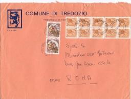 COMUNE DI TREDOZIO -  47019 - FORLI' - ANNO 1981 - LS - FTO 18x24 - TEMA TOPIC COMUNI D´ITALIA - STORIA POSTALE - Affrancature Meccaniche Rosse (EMA)
