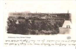 Edinburgh Postcard With View From Fettes College - Midlothian/ Edinburgh