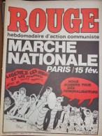 HEBDOMADAIRE ACTION COMMUNISTE- ROUGE- 6 FEVRIER 1976- N� 334- MARCHE NATIONALE PARIS -