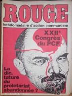 HEBDOMADAIRE ACTION COMMUNISTE- ROUGE- 30 JANVIER 1976- N° 333- XXIIE CONGRES DU PCF- - Kranten