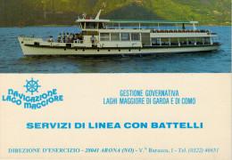 NAVIGAZIONE LAGO MAGGIORE   SERVIZI DI LINEA CON BATTELLI        (NUOVA) - Italia