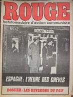 HEBDOMADAIRE ACTION COMMUNISTE- ROUGE-  16-01-1976- N� 331- ESPAGNE L� HEURE DES GREVES- REVISONS DU PCF