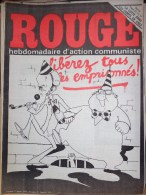 HEBDOMADAIRE ACTION COMMUNISTE- ROUGE- 2-01-1976- N� 329- LIBEREZ LES EMPRISONNES-LUTTE DANS LES CAMPS EN URSS-RUSSIE