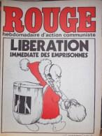 HEBDOMADAIRE ACTION COMMUNISTE- ROUGE-26-12-1975- N� 328- LIBERATION IMMEDIATE DES EMPRISONNES-DOSSIER PORTUGAL-CHILI