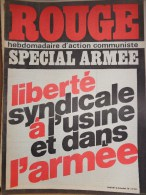 HEBDOMADAIRE ACTION COMMUNISTE- ROUGE-12-12-1975- N� 326- SPECIAL ARMEE- LIBERTE SYNDICALE