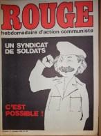 HEBDOMADAIRE ACTION COMMUNISTE- ROUGE-14-11-1975- N� 322- UN SYNDICAT DE SOLDATS -ARMEE- JUAN CARLOS-SAHARA ESPAGNE