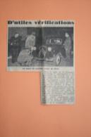 Coupure De Presse 1961 Automobile CITROEN Traction Riom Gendarme - Historical Documents