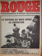 HEBDOMADAIRE ACTION COMMUNISTE- ROUGE-7-11-1975- N� 321- VIETNAM- ESPAGNE- ANGOLA- FRANCO SE MEURT