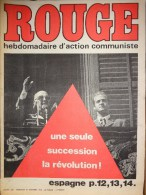 HEBDOMADAIRE ACTION COMMUNISTE- ROUGE-31-10-1975- N� 320- ESPAGNE LA REVOLUTION -FRANCO - PORTUGAL