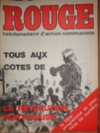 HEBDOMADAIRE ACTION COMMUNISTE- ROUGE-17-10-1975- N�318- PORTUGAL  REVOLUTION-