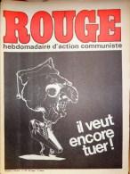 HEBDOMADAIRE ACTION COMMUNISTE- ROUGE-3-10-1975- N� 316- ESPAGNE FRANCO
