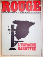 HEBDOMADAIRE ACTION COMMUNISTE- ROUGE-26-9-1975- N� 315- L� ESPAGNE GAROTTEE- PORTUGAL