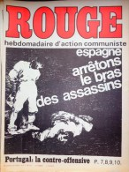 HEBDOMADAIRE ACTION COMMUNISTE- ROUGE-29-8-1975- N� 311- ESPAGNE GARMANDIA -OTAEGUI- PORTUGAL -ANGOLA