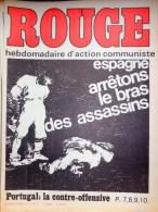 HEBDOMADAIRE ACTION COMMUNISTE- ROUGE-29-8-1975- N° 311- ESPAGNE GARMANDIA -OTAEGUI- PORTUGAL -ANGOLA - Journaux - Quotidiens