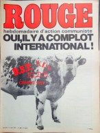 HEBDOMADAIRE ACTION COMMUNISTE- ROUGE- 11 -7-1975- N� 308- COMPLOT INTERNATIONAL- DST-CIA-CRISTO REY-PIDE-PORTUGAL