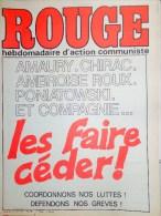 HEBDOMADAIRE ACTION COMMUNISTE- ROUGE- 27-6-1975- N� 306- AMAURY-CHIRAC-AMBROISE ROUX-PONIATOWSKI