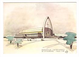 republique du tchad n. djamena nouvelle cathedrale carte RARE