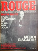 HEBDOMADAIRE ACTION COMMUNISTE- ROUGE-23-5-1975- N� 301- MERCI GISCARD MAI 74-MAI 75- PORTUGAL