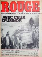 HEBDOMADAIRE ACTION COMMUNISTE- ROUGE-16-5-1975- N� 300- USINOR DUNKERQUE- ANGOLA- COUTINHO- VIETNAM