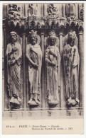 PARIS FRANCE~NOTRE DAME CHURCH FACADE DETAIL~ STATUES~SCULPTURES~c1910s Postcard [5883] - Notre Dame Von Paris