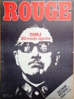 HEBDOMADAIRE ACTION COMMUNISTE- ROUGE-9-5-1975- N� 299- CHILI PINOCHET- VIETNAM-INDOCHINE- DUNKERQUE USINOR