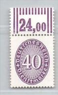 MiNr.121 Xx  WOR Deutschland Deutsches Reich,Dienstpost - Dienstpost
