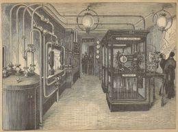 A3586 Parigi - Centrale Di Orologi Pneumatici_Incisione - Stampa Antica Del 1890 - Prints & Engravings