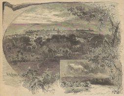 A3305 Villaggio Sul Fiume Chagres - Stampa Antica Del 1887 - Xilografia - Prints & Engravings