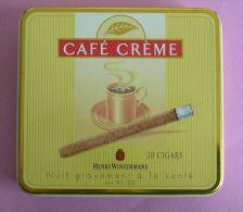 BOITE A CIGARES EN METAL - CAFE CREME HENRI WINTERMANS - 2 SCANS - Cigares - Accessoires
