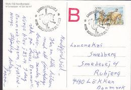 "Norway PPC Nordfjordeid ""B"" In Red LANDSKAPPLEIKEN 1990 To LØKKEN Denmark Folk Music & Dancing (2 Scans) - Briefe U. Dokumente"
