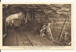 Mancieulles  Mines De Fer   Chargement D'un Coup De Mine - Miniere