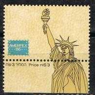 Viñeta Estados Unidos, AMERIPEX 86. Estatua Libertad ** - Variedades, Errores & Curiosidades
