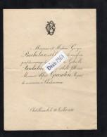 VP1674 - CHATELLERAULT - Généalogie - Double Faire - Part De Mariage A. GRANDIN à CHATEAUROUX  &  G . BACHELIER - Mariage