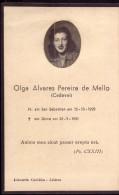 1951 Pagela Memoria Filha De MARQUÊS De CADAVAL Olga Alvares Pereira De Mello. Real Photo NOBILITY Died Age 23. Portugal
