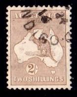 Australia 1915 Kangaroo 2/- Brown 2nd Watermark Used - Used Stamps